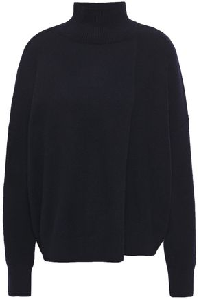 VINCE. Asymmetric wool and cashmere-blend turtleneck sweater