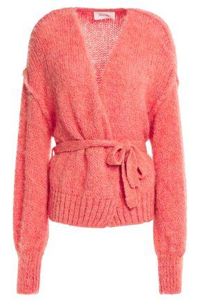 AMERICAN VINTAGE Manina belted mélange knitted cardigan