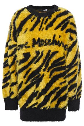 LOVE MOSCHINO Brushed jacquard-knit sweater