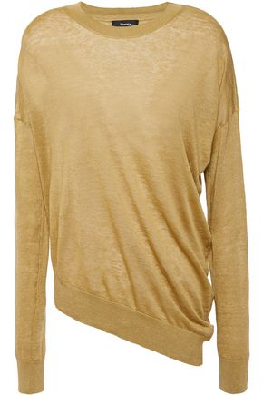 THEORY Sag Harbor asymmetric linen-blend sweater