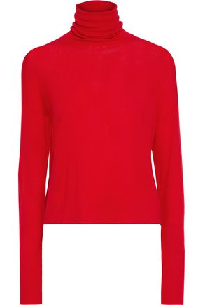 ALTUZARRA Crystal-trimmed merino wool turtleneck sweater