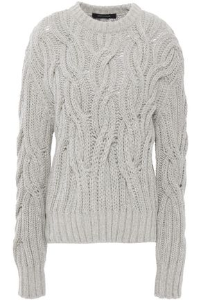 CEDRIC CHARLIER Cable-knit alpaca-blend sweater