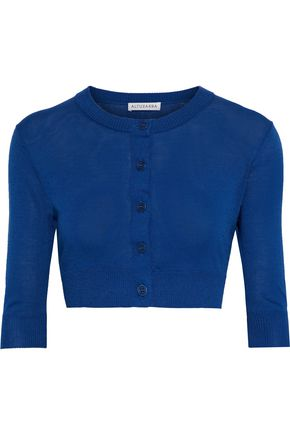ALTUZARRA Anita cropped silk and cotton-blend cardigan
