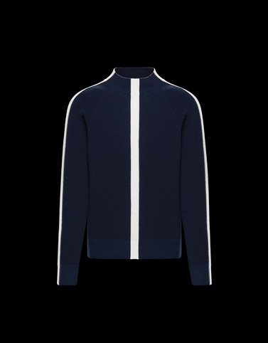 HIGH NECK Dark blue Knitwear & Sweatshirts Man
