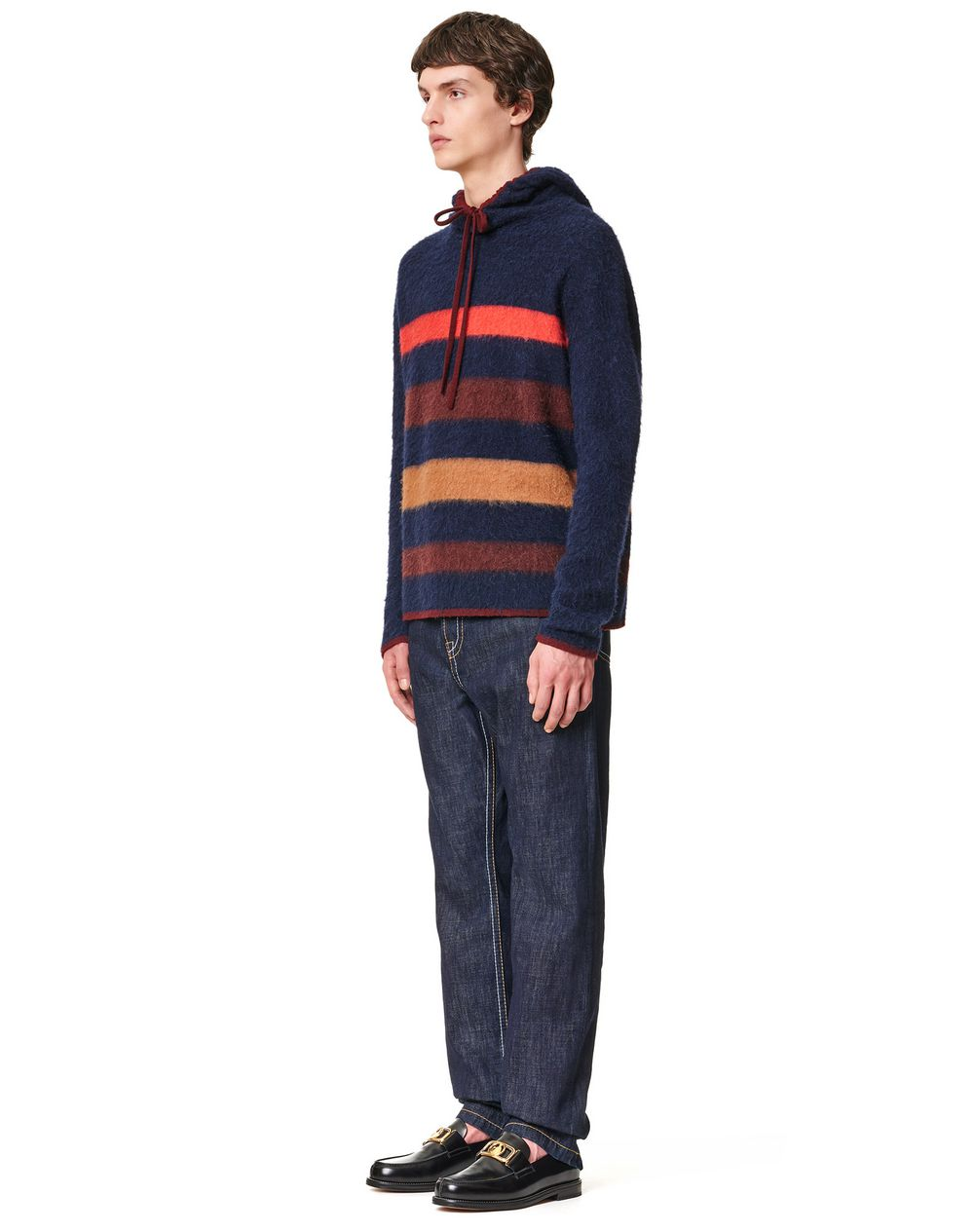 STRIPED KNITTED HOODIE - Lanvin