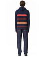 LANVIN Knitwear & Sweaters Man STRIPED KNITTED HOODIE f