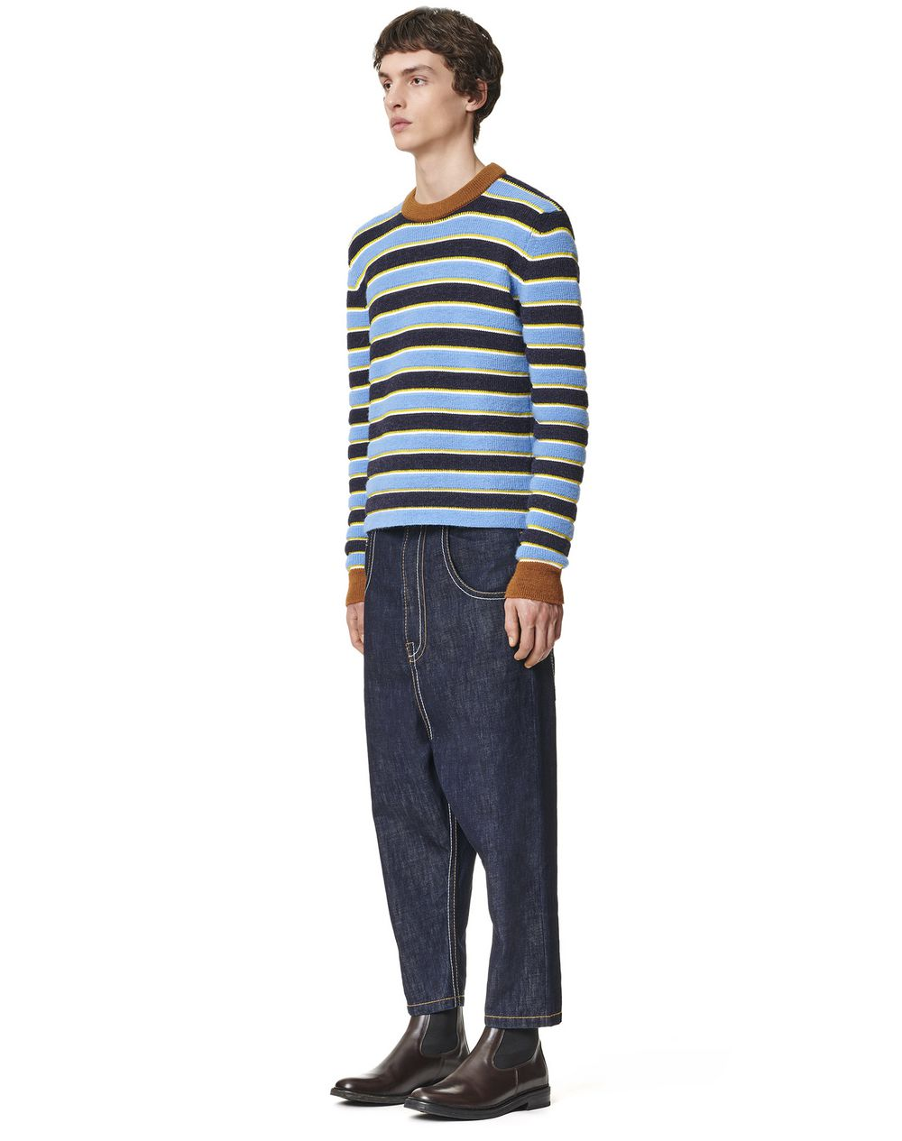 STRIPED KNITTED SWEATER - Lanvin