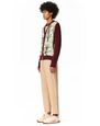 LANVIN Knitwear & Sweaters Man KNITTED CARDIGAN WITH FRONT PRINTED SILK PANELS f