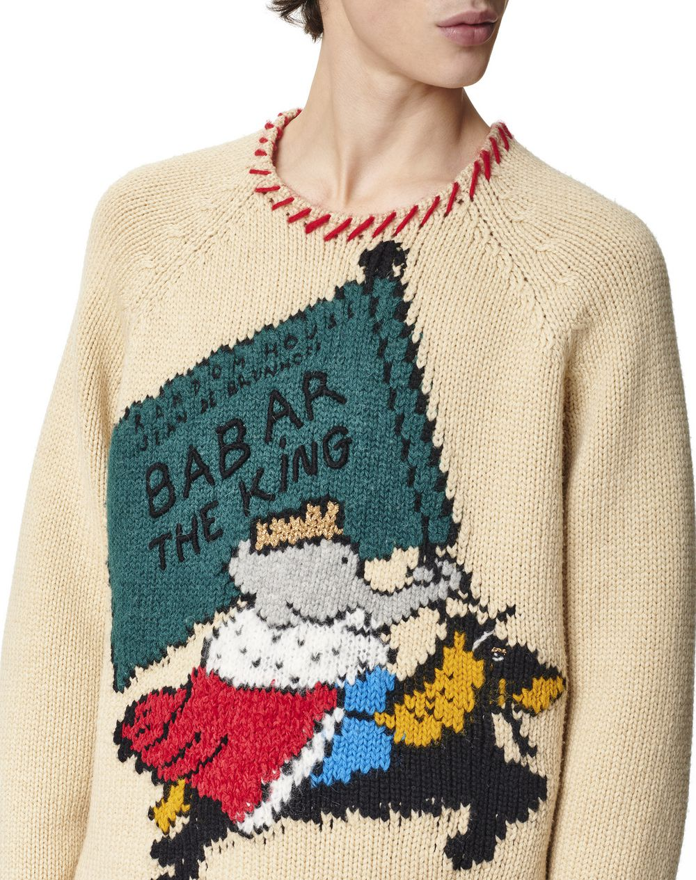 KNITTED INTARSIA SWEATER - Lanvin