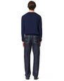 LANVIN Knitwear & Sweaters Man KNITTED SWEATER WITH FRONT PRINTED SILK PANELS f