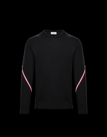 CREWNECK Black Knitwear & Sweatshirts Man