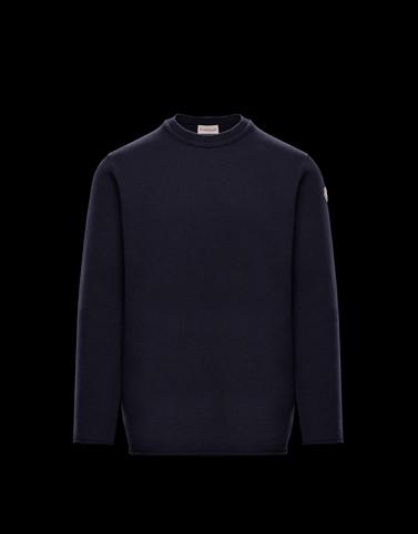 Pullover mit Rundkragen Dark blue New in Herren
