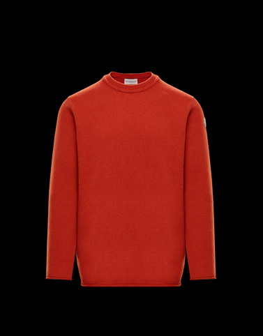 CREWNECK Rust Knitwear & Sweatshirts Man