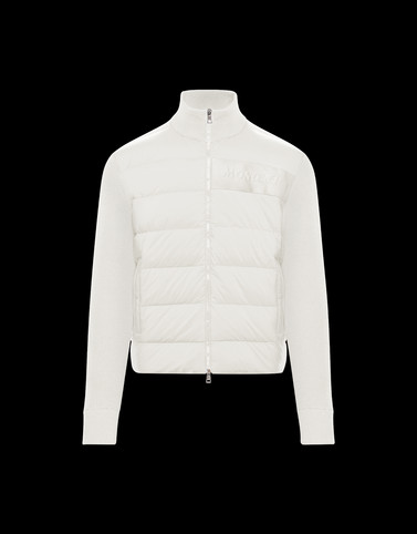 PADDED CARDIGAN Ivory New in Man