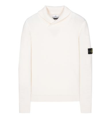 STONE ISLAND 576B6 Sweater Man Natural White EUR 244