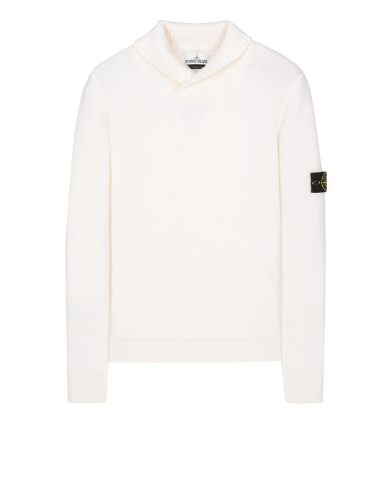 STONE ISLAND 576B6 Sweater Man Natural White