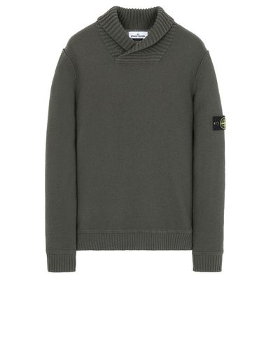 STONE ISLAND 576B6 Sweater Man Musk Green EUR 349