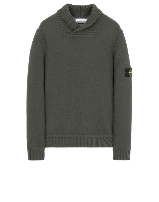STONE ISLAND 576B6 Sweater Man Musk Green
