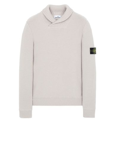 STONE ISLAND 576B6 Sweater Man Dove Grey EUR 349