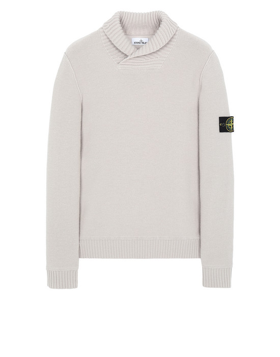 STONE ISLAND 576B6 Sweater Man Dove Grey