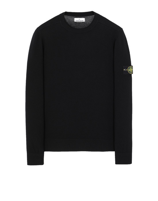 STONE ISLAND 511A1 Sweater Man Black