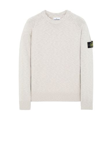 STONE ISLAND 573D3 Sweater Man Dove Gray EUR 203