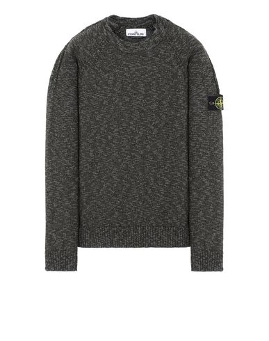 STONE ISLAND 573D3 Sweater Man Sage Green EUR 269
