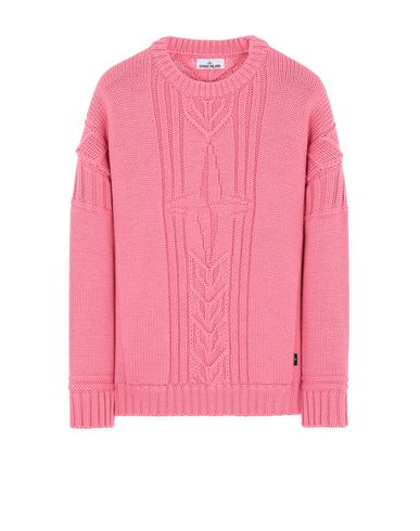 STONE ISLAND 525B4 Sweater Man Cyclamen EUR 349