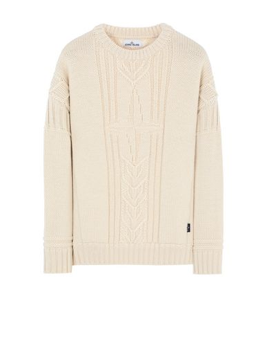 STONE ISLAND 525B4 Sweater Man Butter EUR 349