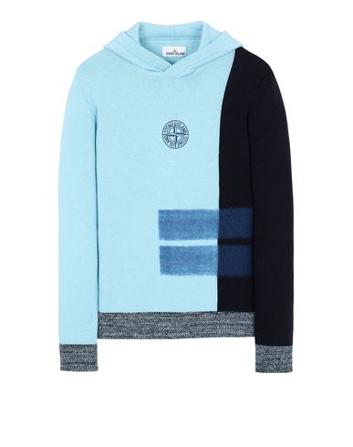 STONE ISLAND 562D2 Sweater Man Aqua USD 353