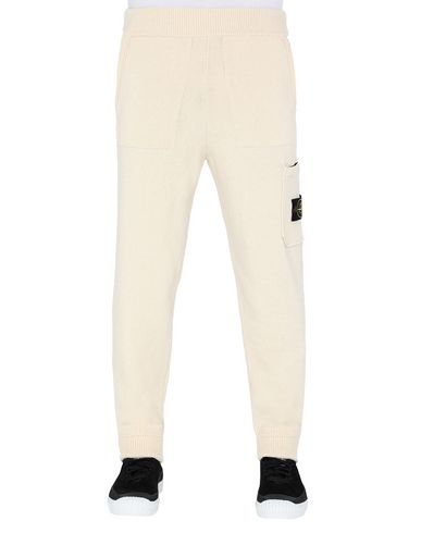 STONE ISLAND 558A7 KNIT TROUSERS Man Butter EUR 379