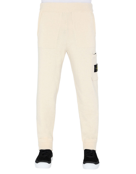 STONE ISLAND 558A7 KNIT PANTS Man Butter