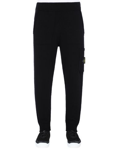 STONE ISLAND 558A7 KNIT TROUSERS Man Black EUR 265