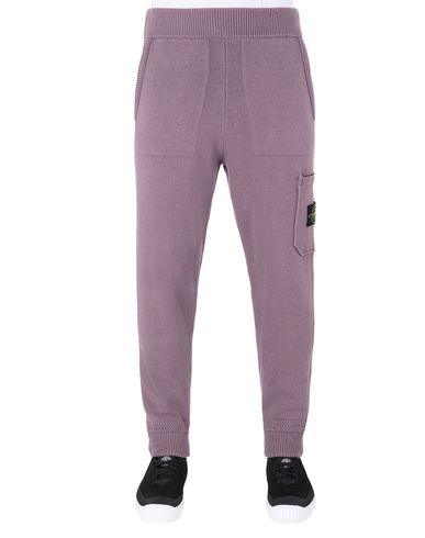 STONE ISLAND 558A7 KNIT PANTS Man Magenta USD 267