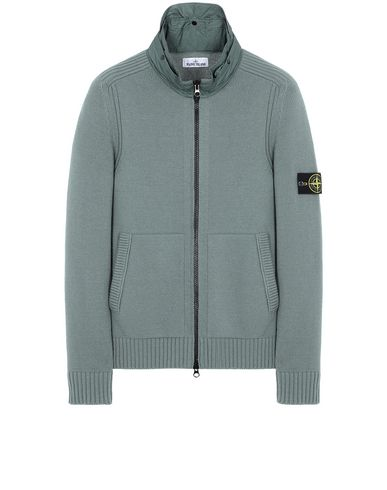 STONE ISLAND 551A3 Sweater Man Sage Green EUR 499