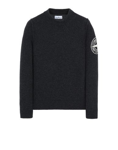 STONE ISLAND 592C7 Sweater Man DARK GRAY MELANGE USD 375