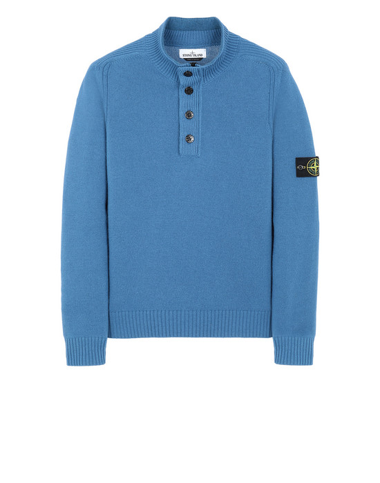 STONE ISLAND 532A3 Sweater Man Periwinkle