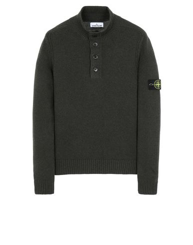 STONE ISLAND 532A3 Sweater Man Musk Green EUR 217