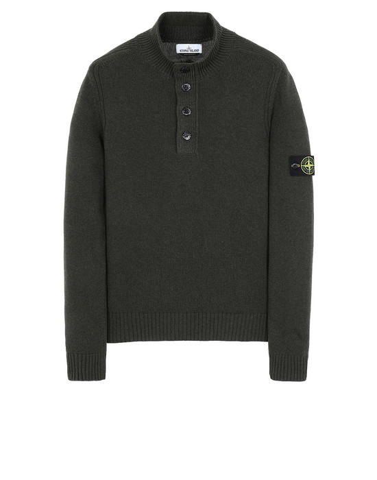 STONE ISLAND 532A3 Tricot Homme Mousse