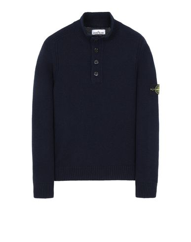 STONE ISLAND 532A3 Sweater Man Blue EUR 217