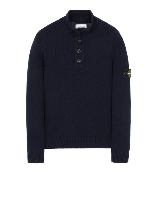 STONE ISLAND 532A3 Sweater Man Blue