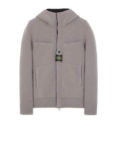 STONE ISLAND 559D1 STRETCH WOOL WITH WINDSTOPPER™ AND PRIMALOFT® INSULATION Sweater Man Mud EUR 580