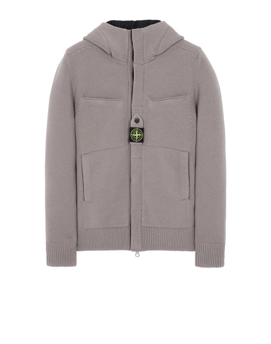 STONE ISLAND 559D1 STRETCH WOOL WITH WINDSTOPPER™ AND PRIMALOFT® INSULATION Sweater Man Mud