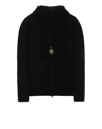 STONE ISLAND 559D1 STRETCH WOOL WITH WINDSTOPPER™ AND PRIMALOFT® INSULATION Sweater Man Black USD 742