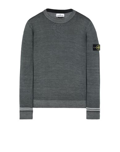 STONE ISLAND 555A8 FAST DYE + AIRBRUSH Sweater Man Musk Green USD 210
