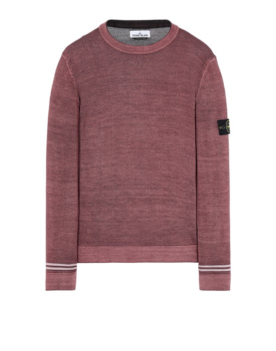 STONE ISLAND 555A8 FAST DYE + AIRBRUSH Sweater Man Dark Burgundy