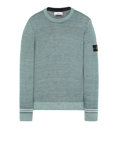 STONE ISLAND 555A8 FAST DYE + AIRBRUSH Sweater Man Sage Green USD 368