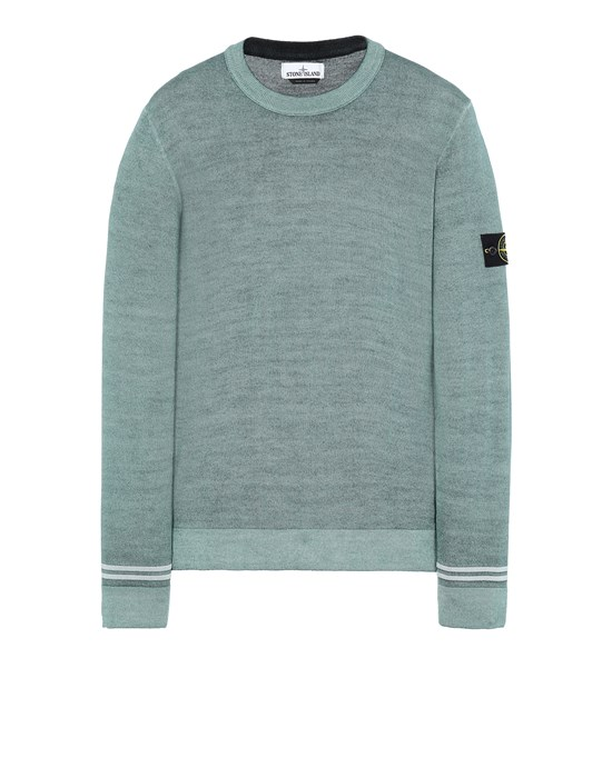 Sweater Man 555A8 FAST DYE + AIRBRUSH Front STONE ISLAND