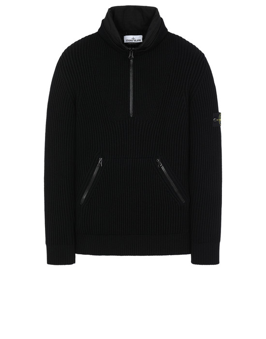 STONE ISLAND 518C2 Sweater Man Black