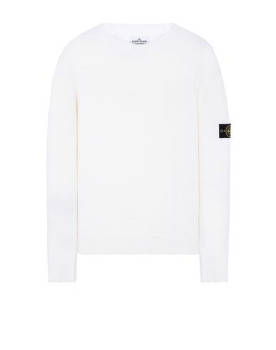 STONE ISLAND 505A3 Sweater Man Natural White EUR 255